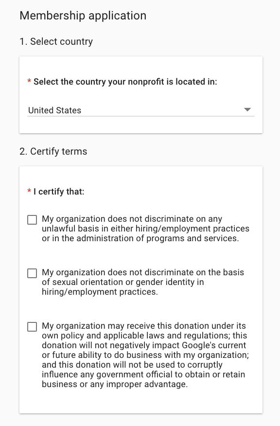 Non Profit Registration